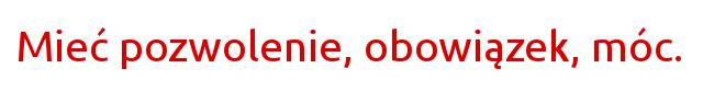 modalne czasowniki